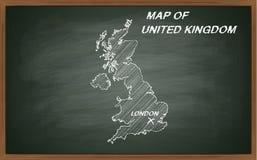 United Kingdom on blackboard Royalty Free Stock Images