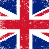 United Kingdom or Britain flag in grunge style Royalty Free Stock Photo
