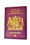 United Kingdom/ British Passport. Of design used in the European Union Royalty Free Stock Images