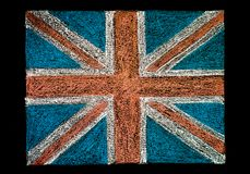United Kingdom (British Union jack) flag Stock Photography