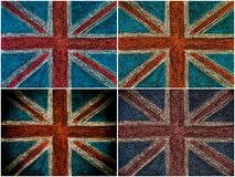 United Kingdom British Union jack flag, hand drawing with chalk on blackboard Royalty Free Stock Images