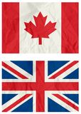 United Kingdom and Canadian flag Royalty Free Stock Photos