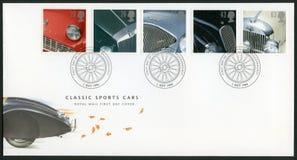 UNITED KINGDOM - 1996: shows series Classic British Sports Cars. UNITED KINGDOM - CIRCA 1996: A stamp printed in United Kingdom shows series Classic British stock photography