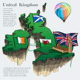 United kingdom country infographic map Royalty Free Stock Images