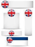 United Kingdom Country Set of Banners Stock Images