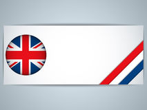United Kingdom Country Set of Banners Royalty Free Stock Photography