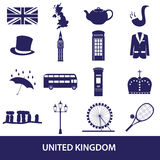 United Kingdom country theme symbols and icons Stock Photo