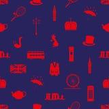 United Kingdom country theme symbols seamless pattern eps10 Stock Photos