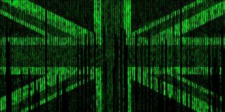 United kingdom digita flag style matrix Royalty Free Stock Images