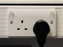 United Kingdom Double Plug Power Socket Royalty Free Stock Photography