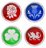 United Kingdom emblems. United Kingdom emblem buttons isolated on white background Stock Photography