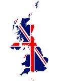 United Kingdom, England flag, map Royalty Free Stock Image