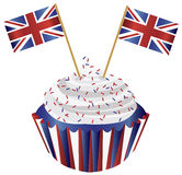 United Kingdom England muffin med flaggor Arkivfoto
