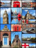 United Kingdom. England, United Kingdom places photo collage. Collage includes major cities like London, Birmingham, Manchester, Liverpool and Bolton Stock Photos