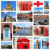 United Kingdom. England, United Kingdom places photo collage. Collage includes major cities like London, Birmingham, Manchester, Liverpool and Bolton Stock Images