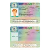 United Kingdom or England visa passport sticker templates. United Kingdom or England visa passport sticker templates vector illustration