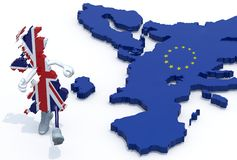 United Kingdom escape from Europe stock images