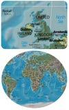 United Kingdom and Europe Africa map Stock Photo