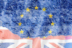 United Kingdom and European Union flag Royalty Free Stock Photography