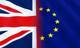 United Kingdom and European Union Flags Royalty Free Stock Photos