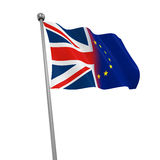 United Kingdom and European Union Flags Stock Photography