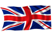 United Kingdom flag. Computer geberated UK flag stock illustration