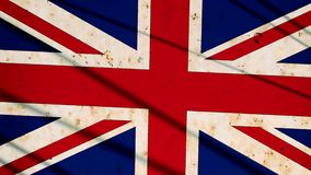 United Kingdom flag. In vintage style Royalty Free Stock Images