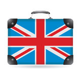 United Kingdom flag. On bag stock illustration