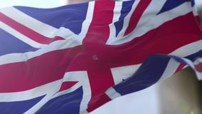 United Kingdom flag stock video