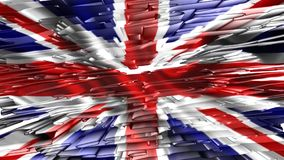 United Kingdom flag ,animation. United Kingdom flag ,best animation stock video
