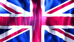 United Kingdom Flag Animation. Ultra HD, 3840x2160 Pixels, Realistic Flag Animation stock footage