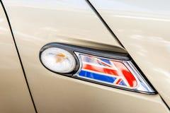 United Kingdom flag as a decoration of a car light Stock Photos