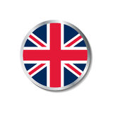 United kingdom flag badge. Available in vector format Royalty Free Stock Photos