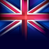 United Kingdom flag in blur style, faded black. Royalty Free Stock Photos