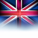 United Kingdom flag in blur style, faded white. Stock Images