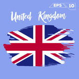 United Kingdom flag brush strokes painted Stock Image