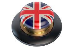 United Kingdom flag button Stock Photos