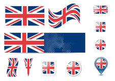 United Kingdom flag and buttons Royalty Free Stock Photos