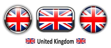 United Kingdom flag buttons Royalty Free Stock Photography