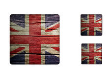 United-kingdom flag Buttons Stock Photos