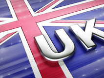 United Kingdom flag. Computer generated image (3d render Royalty Free Stock Photos