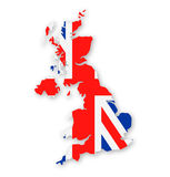 United Kingdom Flag Country Contour Vector Icon Stock Photo