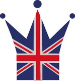 United Kingdom flag crown. Icon Royalty Free Stock Images