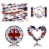 United Kingdom flag ,3D illustration. United Kingdom flag ,best 3D illustration Royalty Free Stock Photo