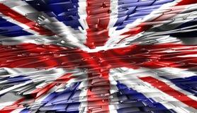 United Kingdom flag ,3D illustration. United Kingdom flag ,best 3D illustration Royalty Free Stock Image