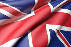 United kingdom flag. 3d rendering of an united kingdom flag Royalty Free Stock Images