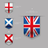 United Kingdom flag - England, Scotland, Ireland Stock Photo