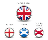 United Kingdom flag -England, Scotland, Ireland. Union Jack Royalty Free Stock Photography