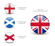 United Kingdom flag -England, Scotland, Ireland. Union Jack Stock Images