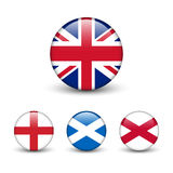 United Kingdom flag -England, Scotland, Ireland. Union Jack Royalty Free Stock Photos